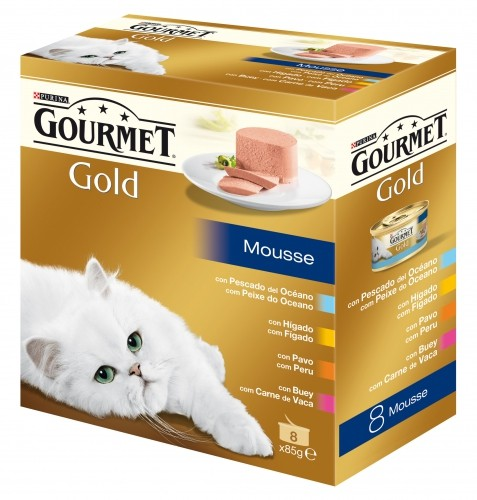 Gourmet Gold Mousse Pack 8x85g