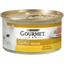 Gourmet Gold Mousse con Pollo 85g (Pack 24 Uds.)