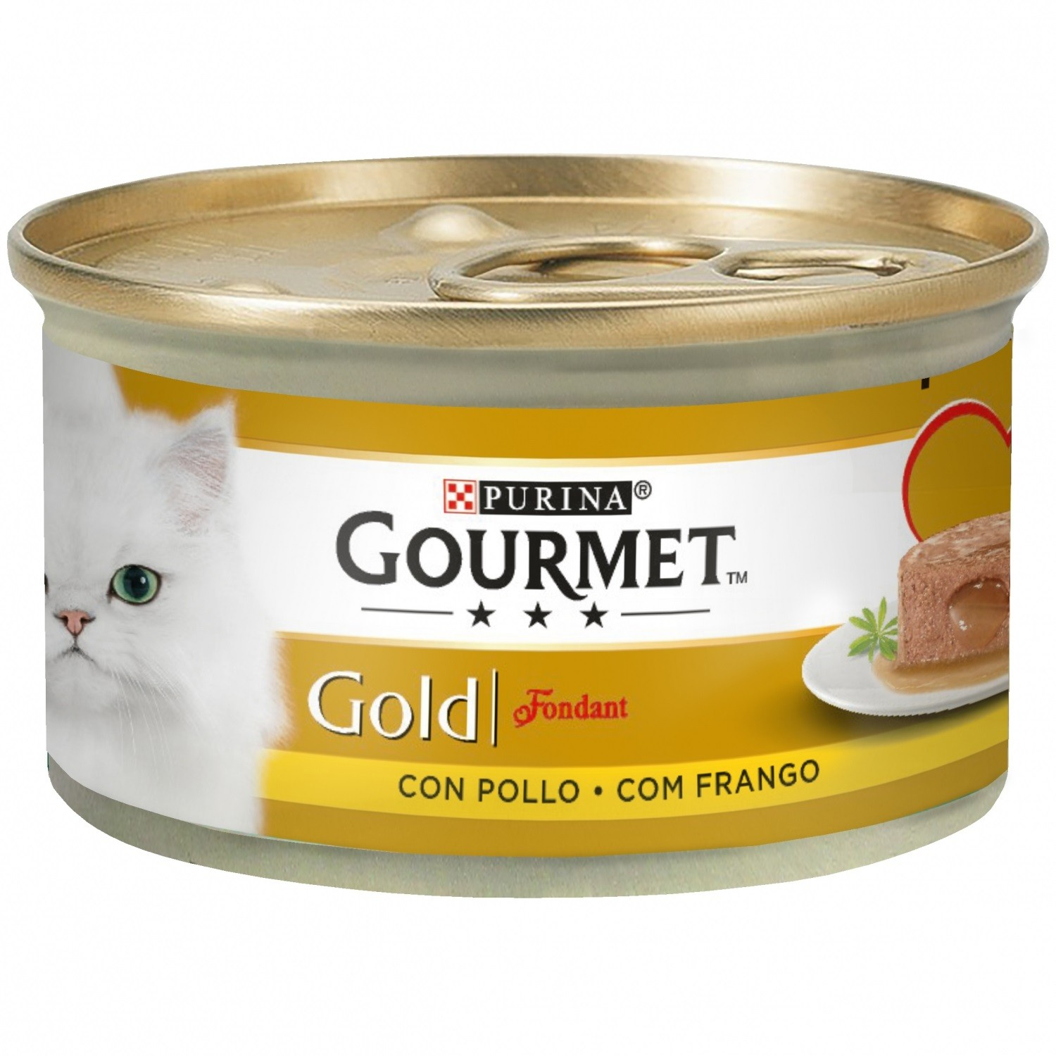 Gourmet Gold Fondant con Pollo 85g (Pack 24 Uds.)