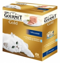 Gourmet Gold Mousse Pescado del Océano Pack 8x85g