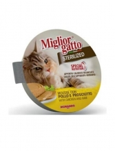 Migliorgatto Sterilized Mouse con Pollo y Jamon 85 gr.